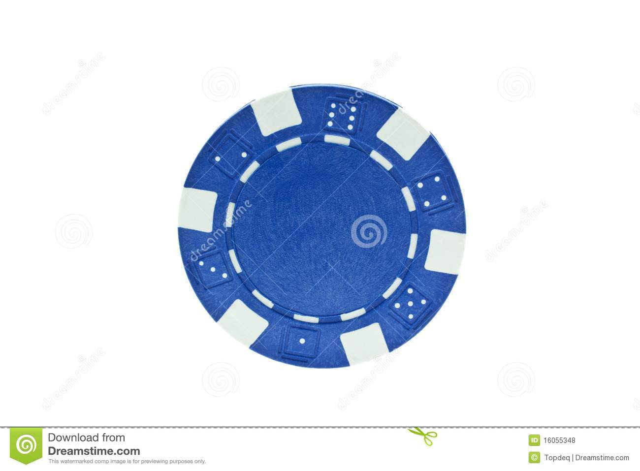 Blue Casino Chip - 813855